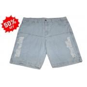 Bermuda Jeans Algodão Plus Size Pequenos Defeitos