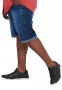 Bermuda Jeans Lavagem Stone Plus Size