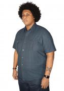 Camisa Colarinho Xadrez Plus Size - Promoção