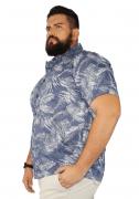Camisa Masculina Colarinho Estampada XXPlusSize