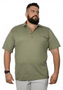 Camisa Polo 4 Botões com Bolso Plus Size - Promoção