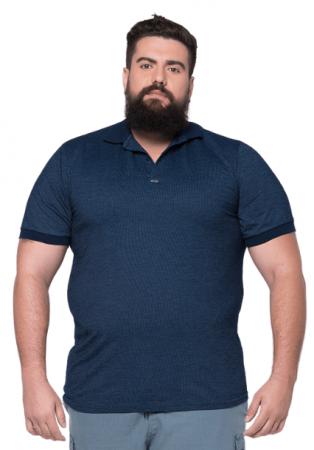 Camisa Polo Jackard Plus Size - Promoção