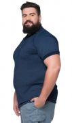 Camisa Polo Jackard Masculina XPlusSize