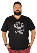 Camiseta Gola V Keep Calm Plus Size - Promoção