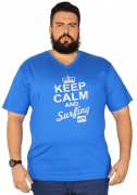 Camiseta Gola V Silk XPlusSize 100% Algodão