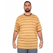 Camiseta Listrada Masculina c/ Bordado XPlusSize