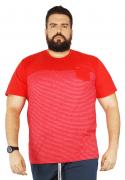 Camiseta Listrada Moline Recorte Peito XXPlusSize