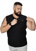 Camiseta Machão Flamê com Bordado Plus Size 100% Algodão