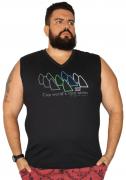 Camiseta Machão Gola V Cup World's Race Plus Size - Promoção