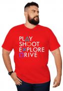 Camiseta Play Station Plus Size - Promoção