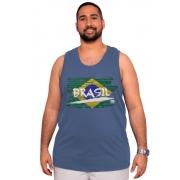 Camiseta Regata Brasil Plus Size - Promoção