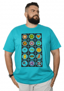 Camiseta Super-Hérois Plus Size