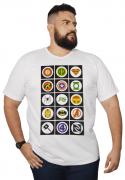 Camiseta Super-Hérois XXPlusSize 100% Algodão