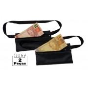 Kit 2 Pochetes Porta-dólar Doleira Dinheiro Documentos