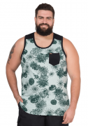 Regata Masculina Plus Size Estampada c/Bolso - Promoção