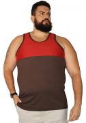 Regata Recorte Peito Estampado Plus Size