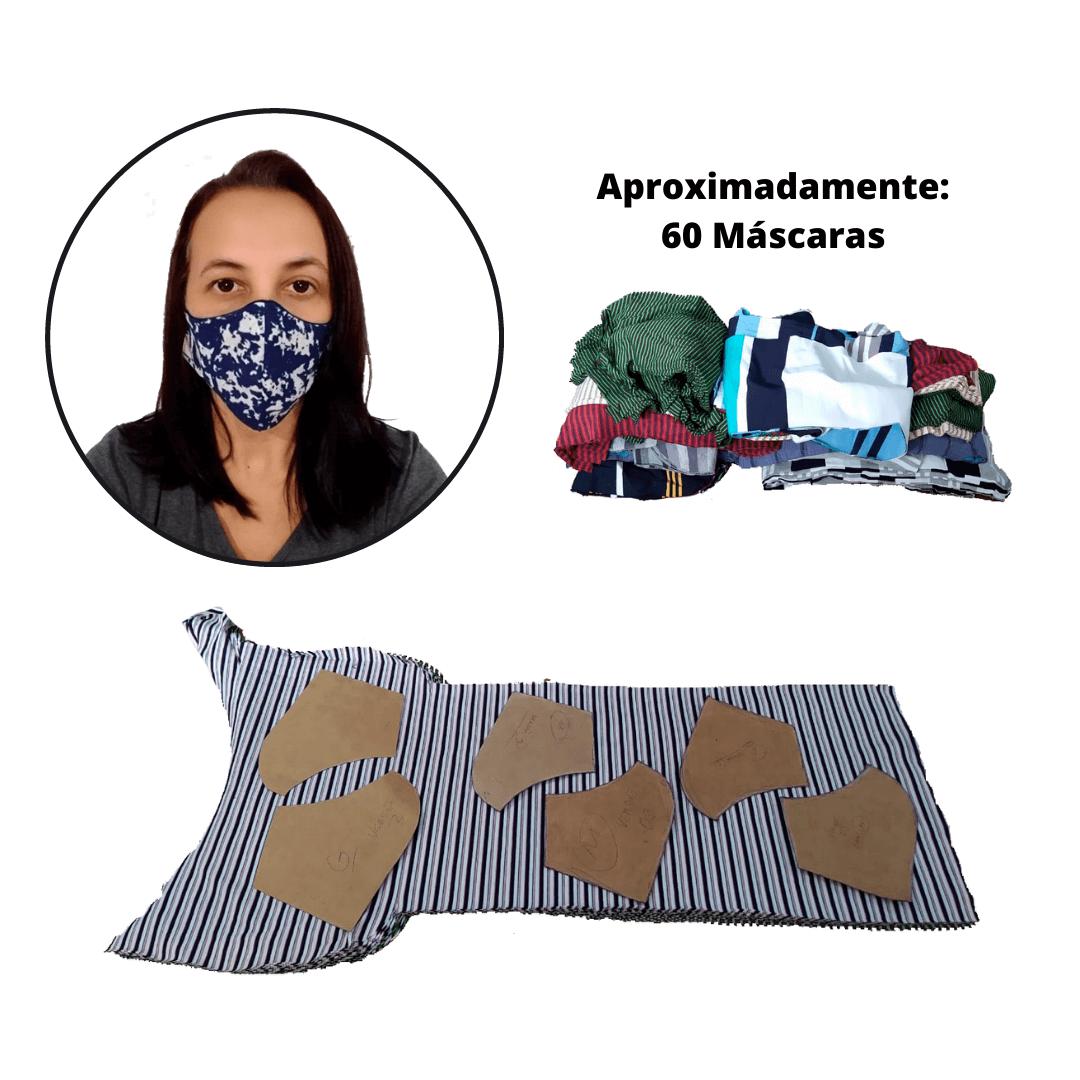 2,5 Kg's de Retalho de Tecido Poliéster para Máscaras