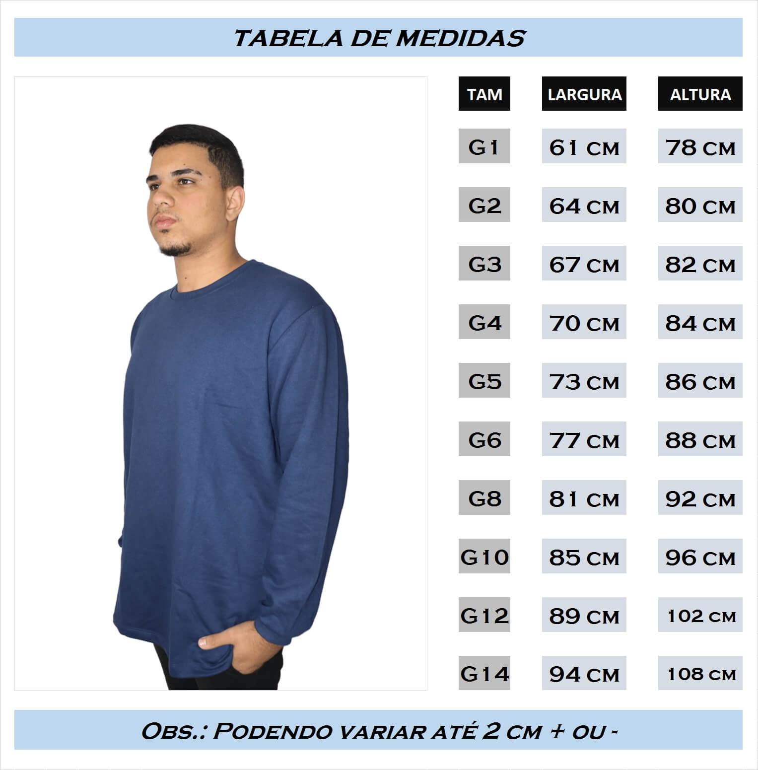 Agasalho de Moletom - Blusão Plus Size