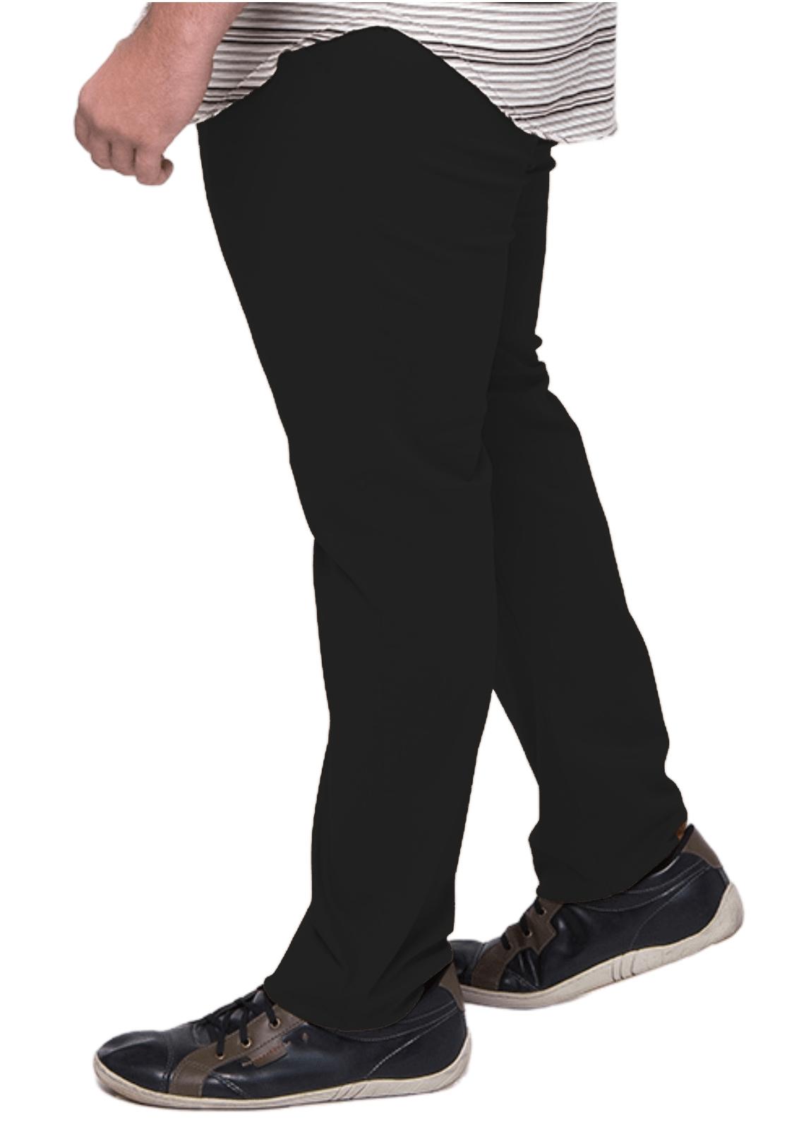 Calça Cós Brim Masculina Plus Size