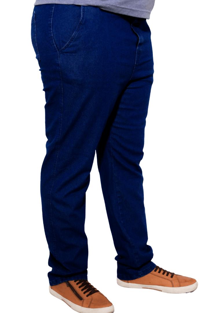 Calça Jeans Amaciado de Cós com Elástico Plus Size
