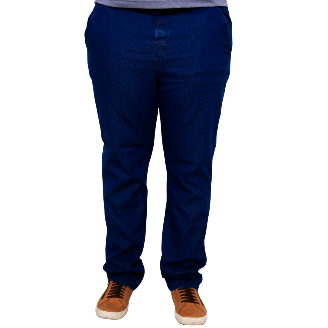 Calça Jeans Amaciado de Cós com Elástico XPlusSize