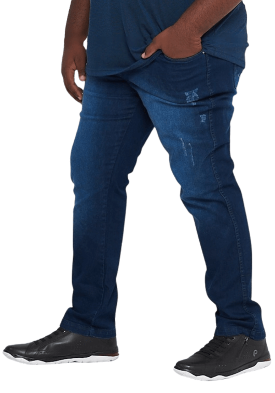 Calça Jeans Masculina Lavagem Stone Especial Plus Size