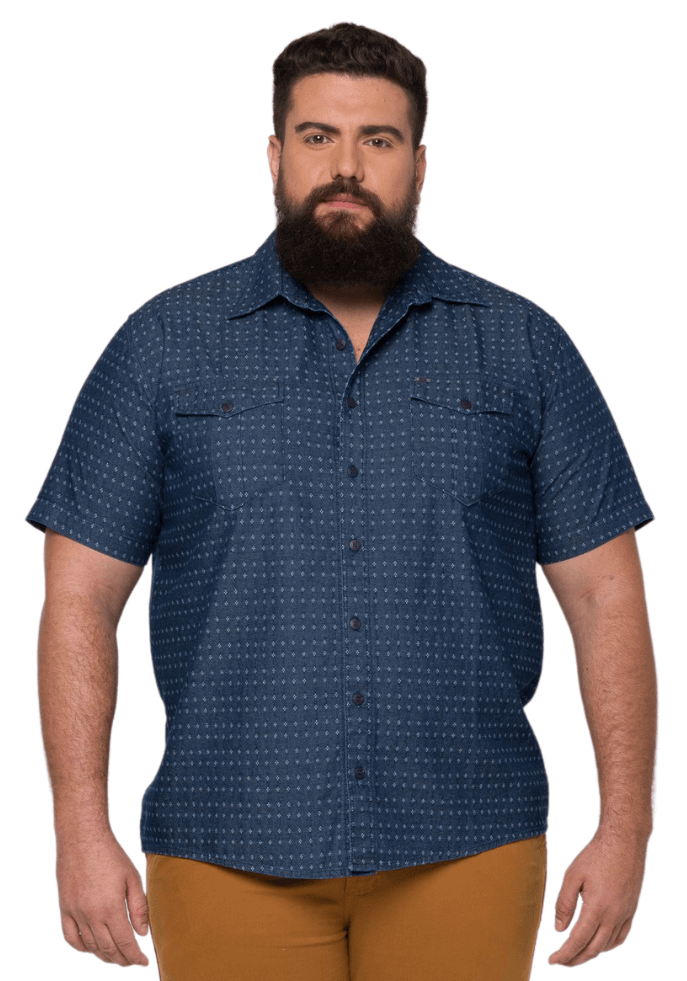 Camisa Masculina Colarinho XXPlusSize