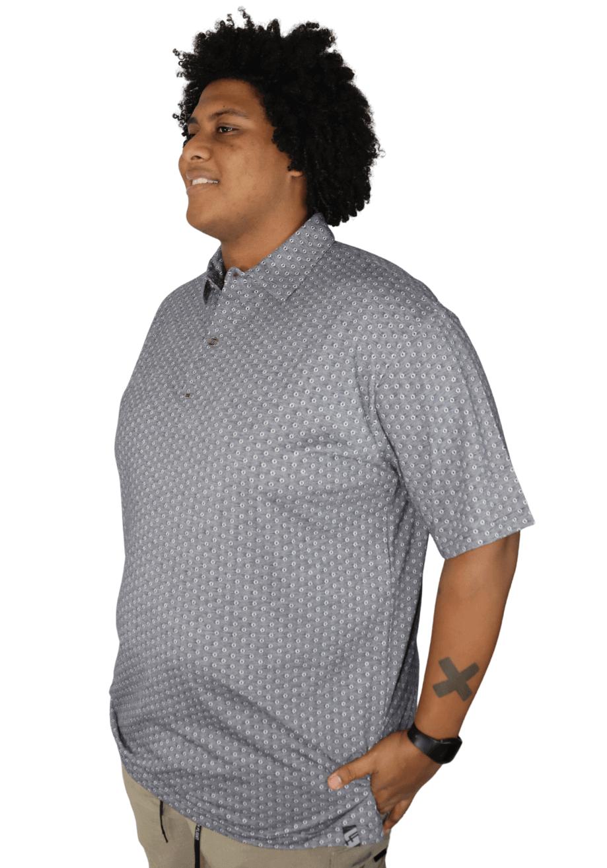 Camisa Polo Estampada Plus Size - Promoção