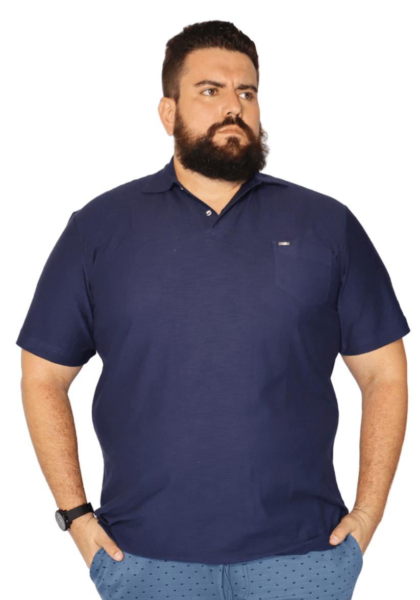 Camisa Polo Flamê com Bolso Plus Size