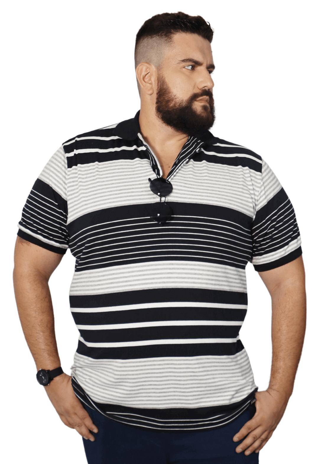 Camisa Polo Listra Plus Size