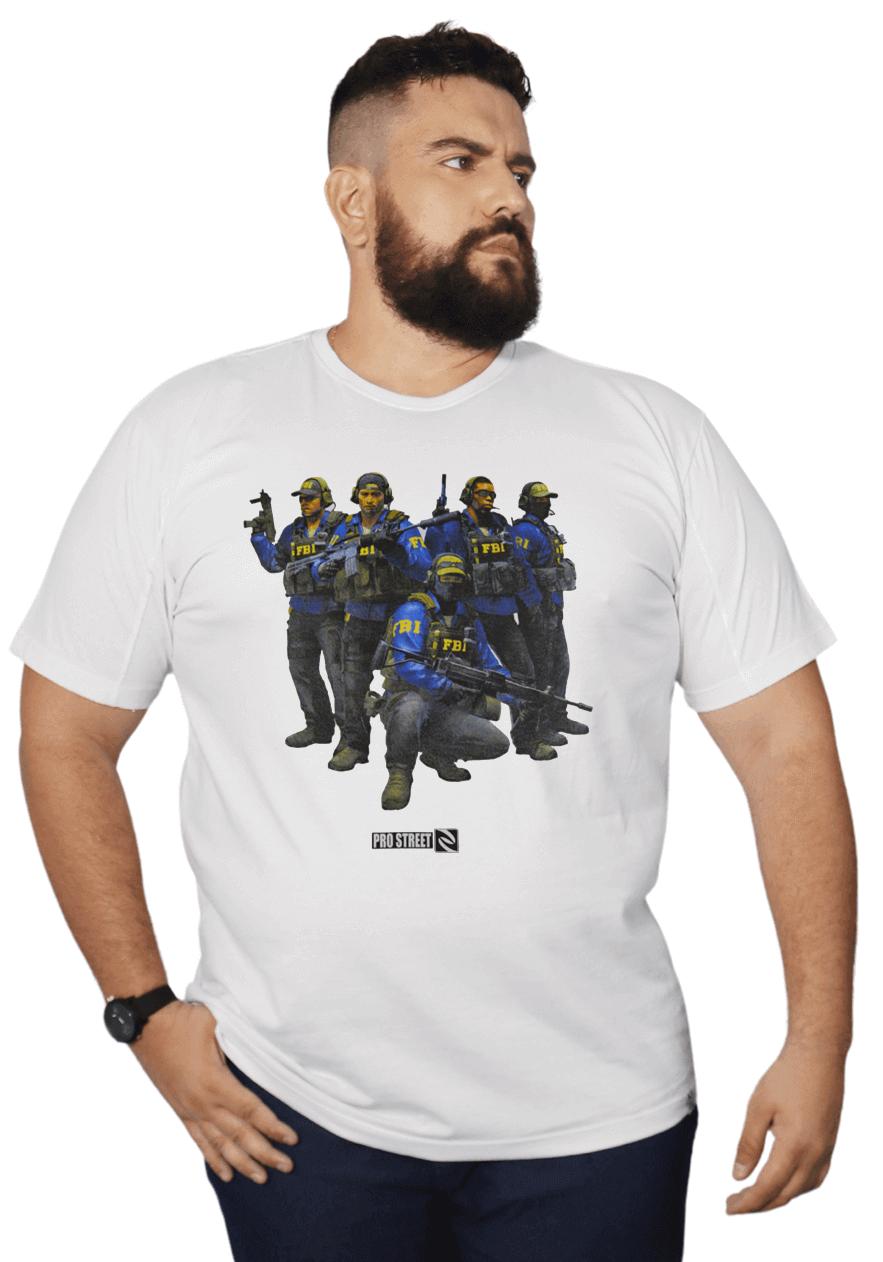 Camiseta Agentes FBI - CSGO Plus Size - Promoção