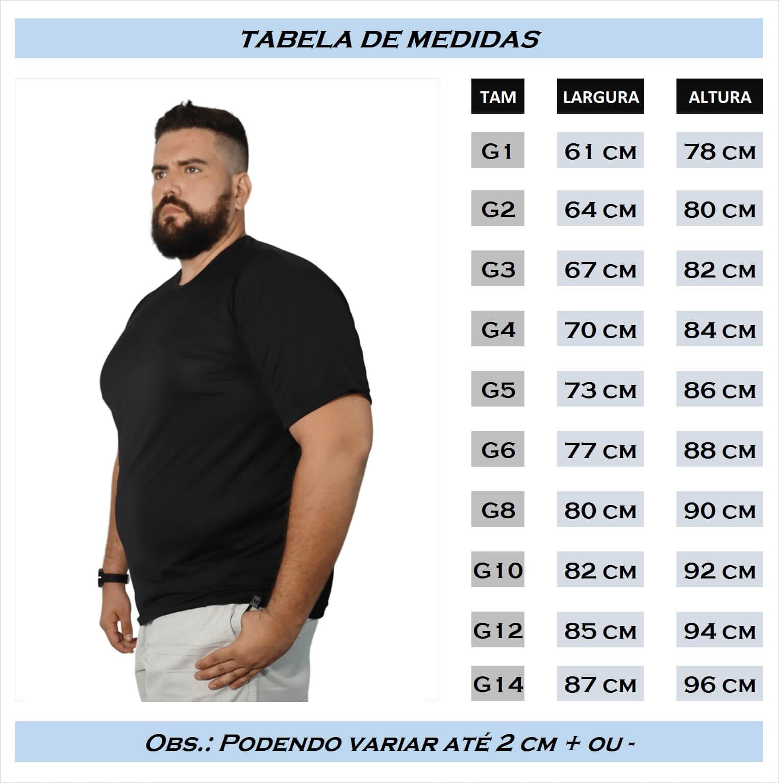 Camiseta Básica Dry-Fit Plus Size - Promoção