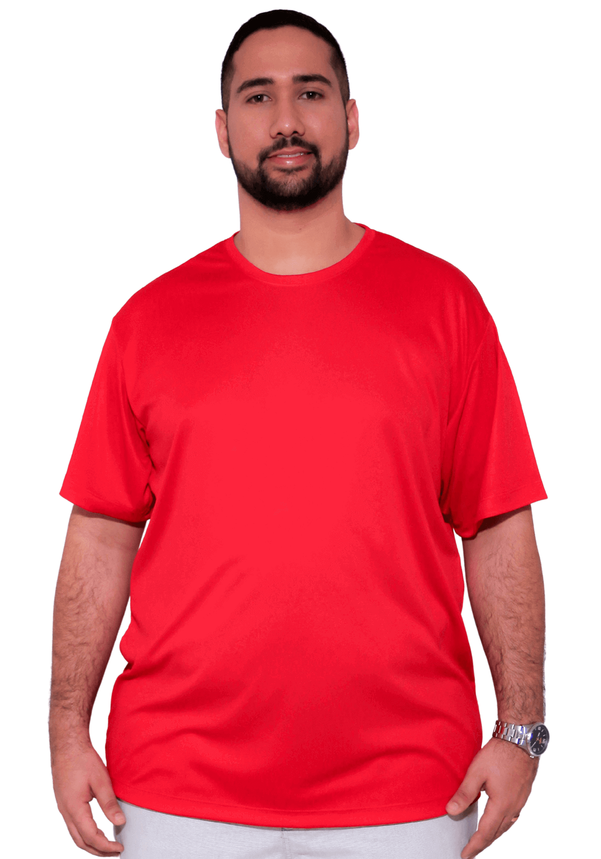 Camiseta Básica Poliéster Dry-Fit Plus Size
