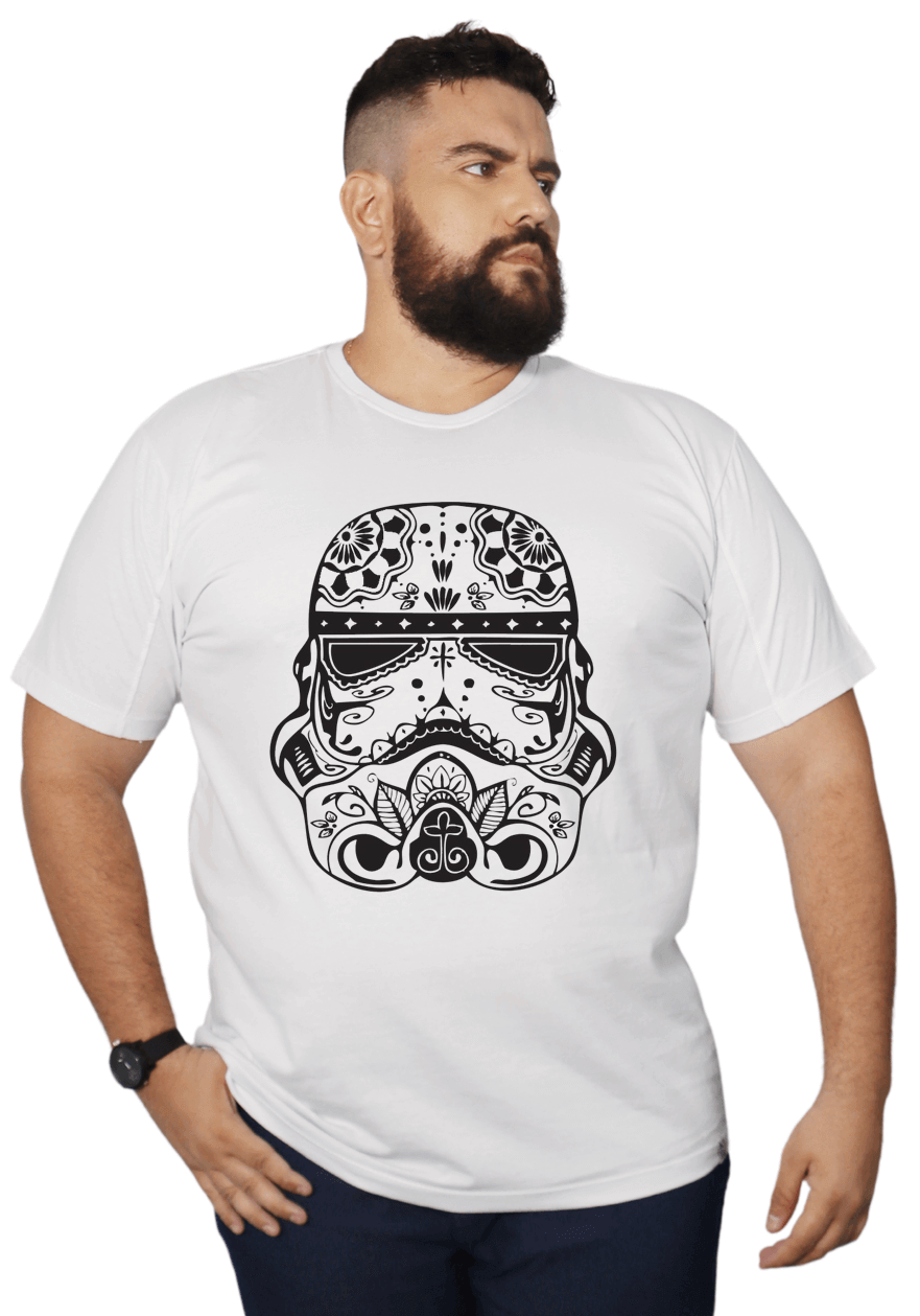 Camiseta Darth Vader Plus Size 100% Algodão