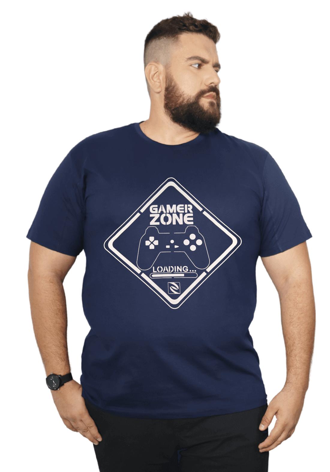 Camiseta Gamer Zone XXPlusSize 100% Algodão