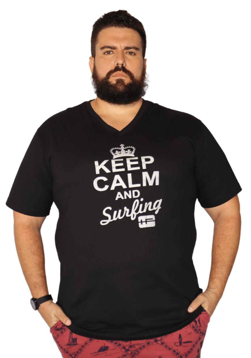 Camiseta Gola V Silk Plus Size 100% Algodão