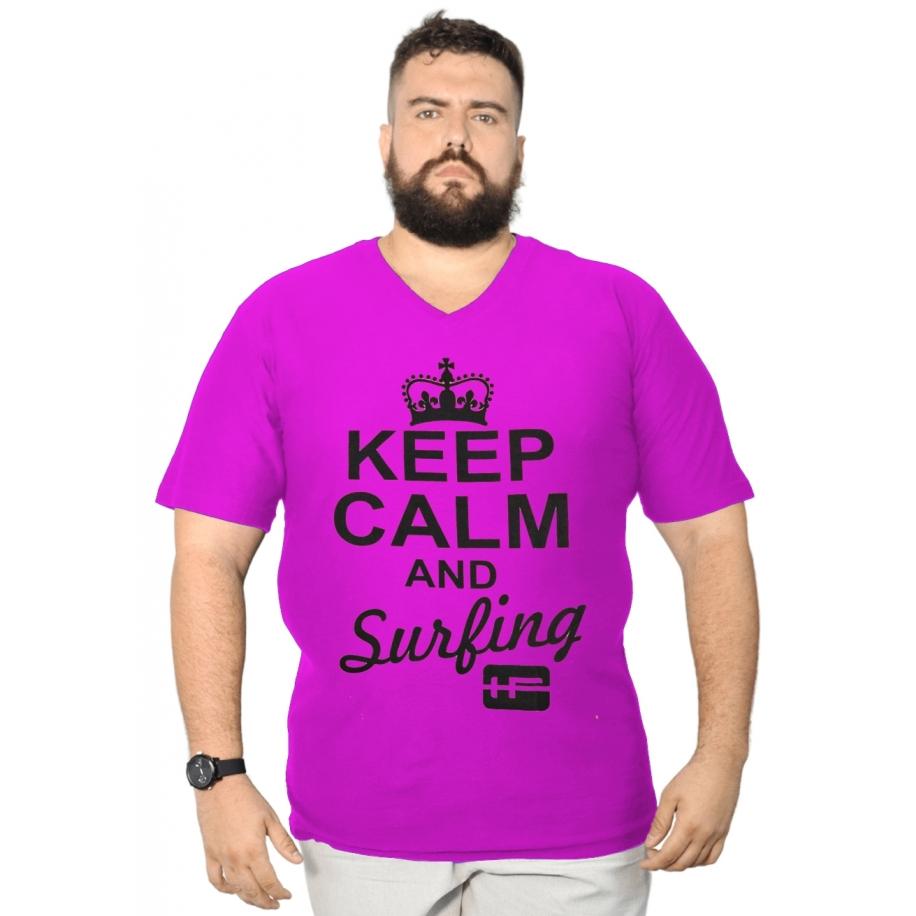 Camiseta Gola V Silk XXPlusSize 100% Algodão
