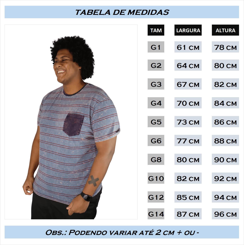 Camiseta Listra Lavagem Tie Dye com Bolso Plus Size - Promoção