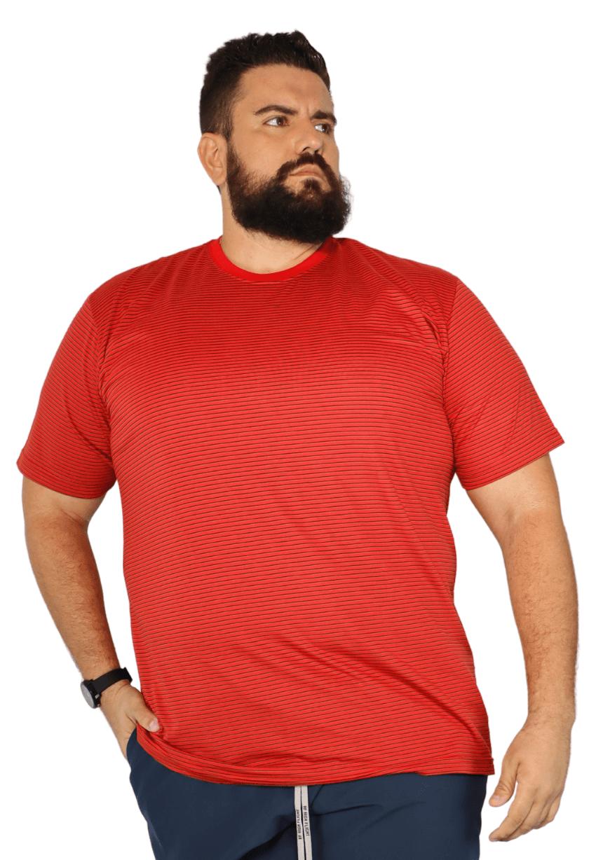 Camiseta Listrada Plus Size