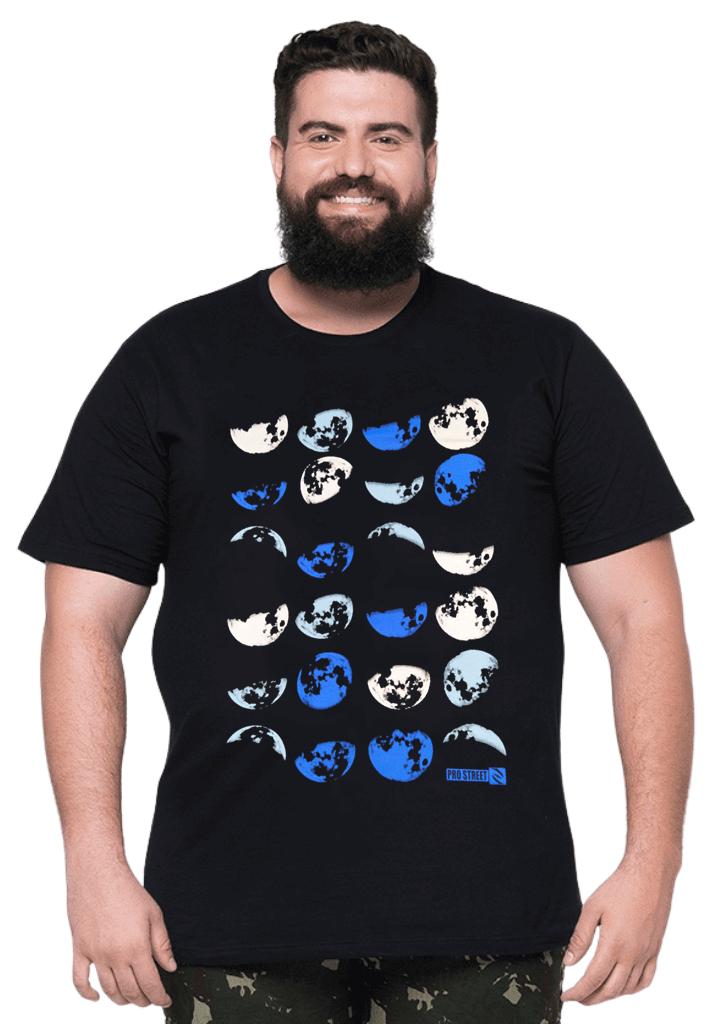 Camiseta Lua Plus Size 100% Algodão