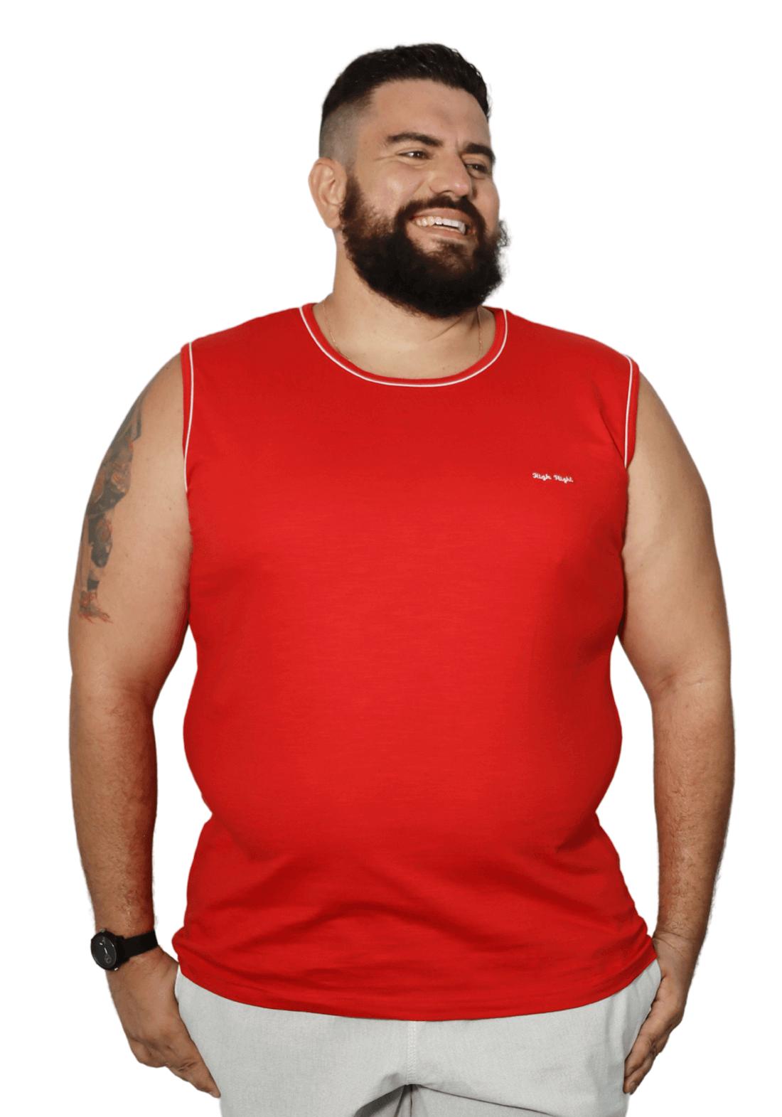 Camiseta Machão Flamê com Bordado Plus Size - Promoção