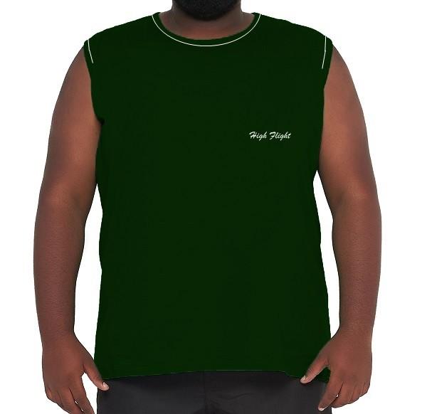 Camiseta Machão Flamê com Bordado XXPlusSize 100% Algodão