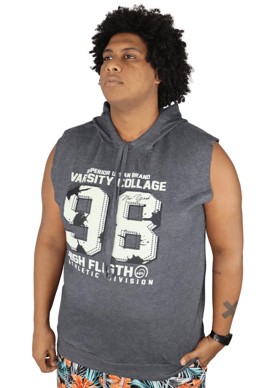Camiseta Machão Moletom com Capuz Plus Size