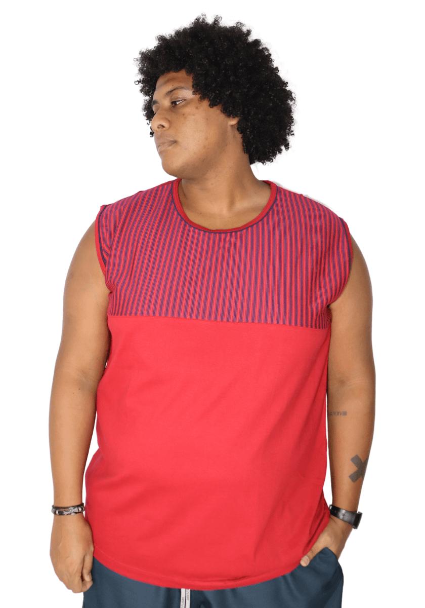 Camiseta Machão Recorte no Peito Plus Size