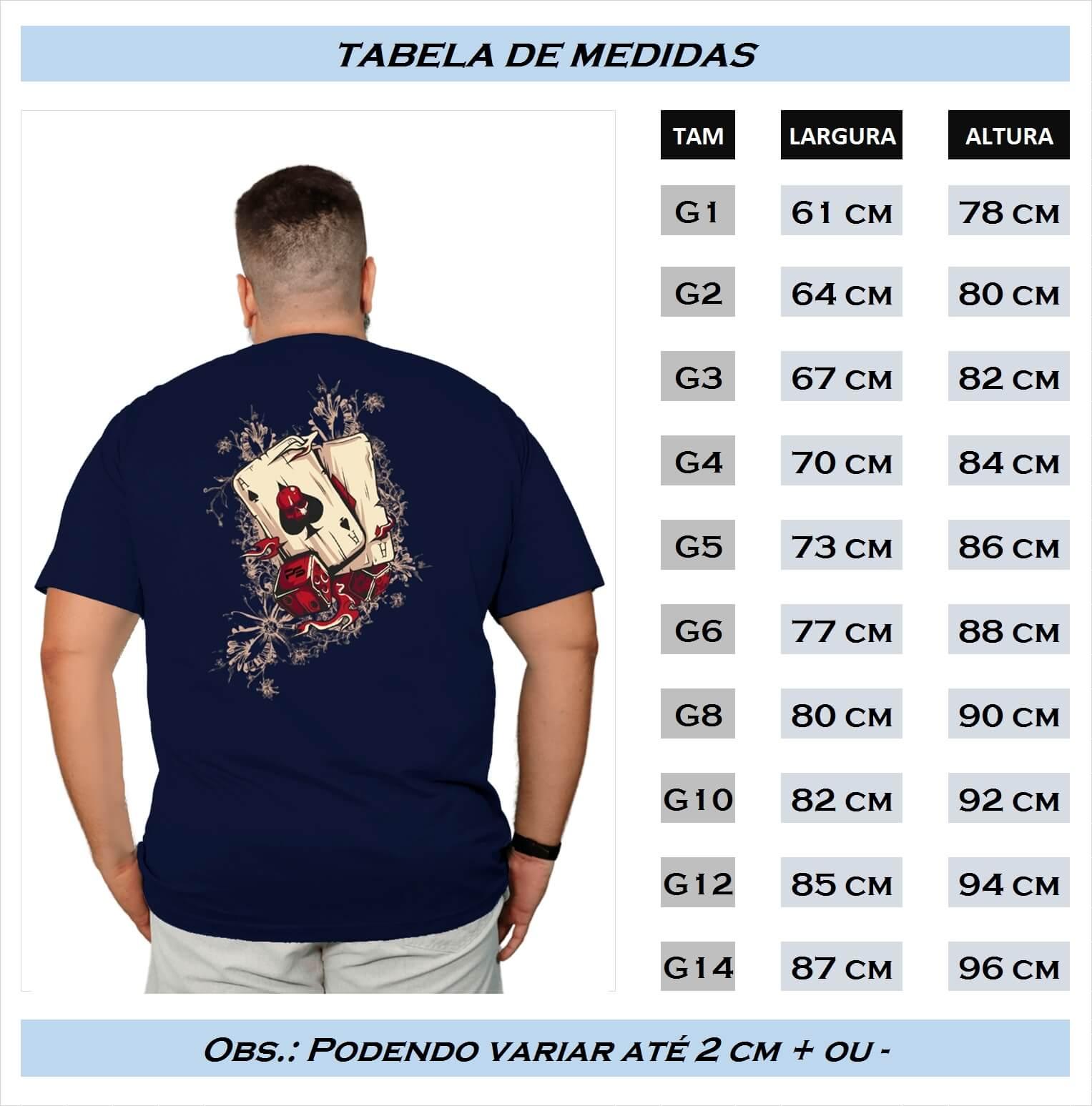 Camiseta Plus Size Deck and Dice