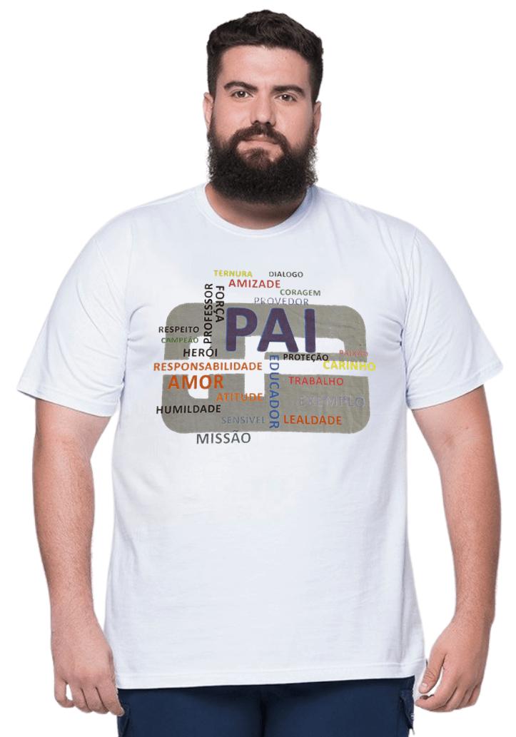 Camiseta Plus Size Dia Dos Pais Papai 100% Algodão