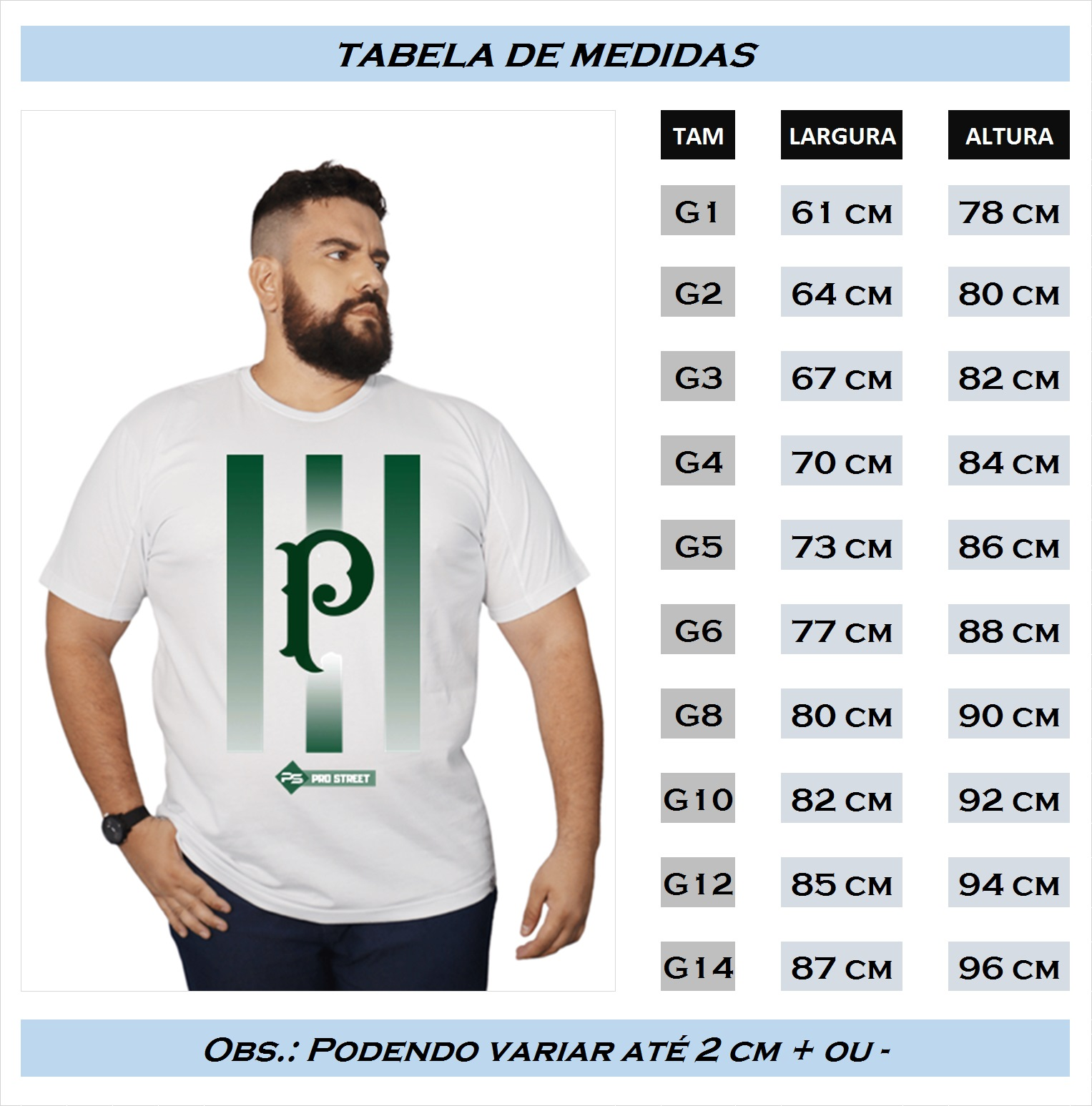 Camiseta Plus Size Palmeiras - Times SP