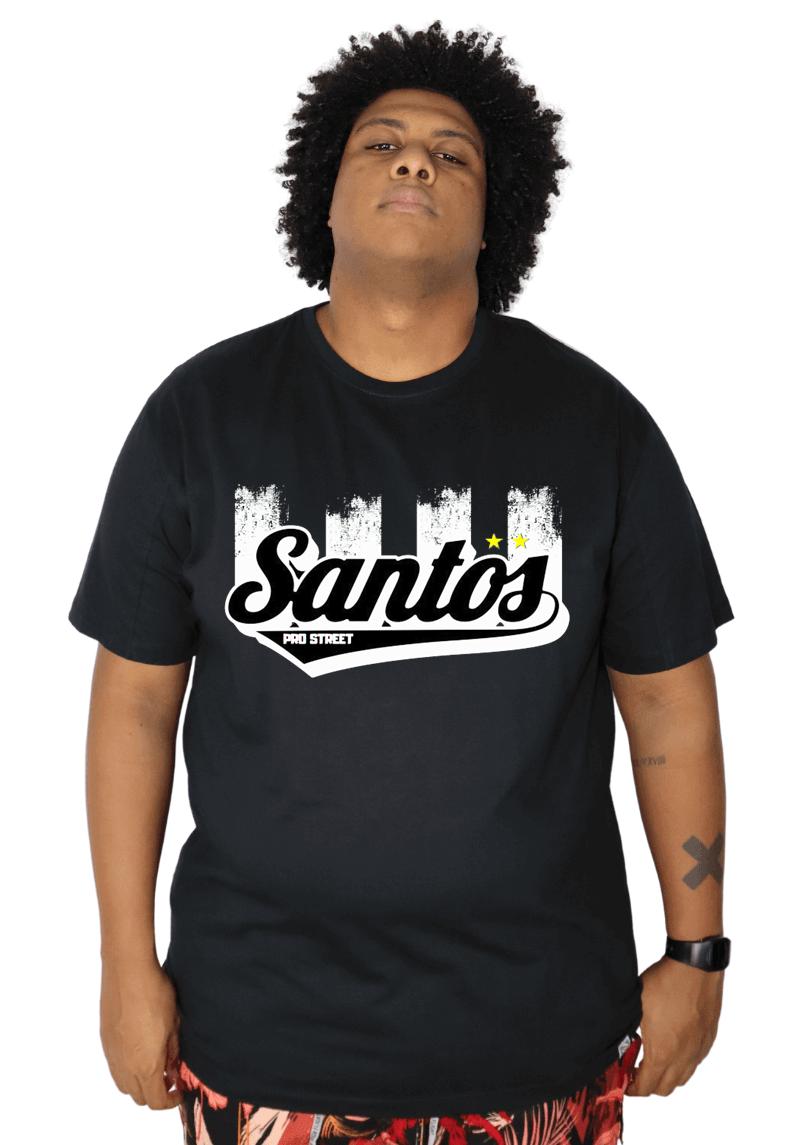Camiseta Plus Size Santos - Times SP