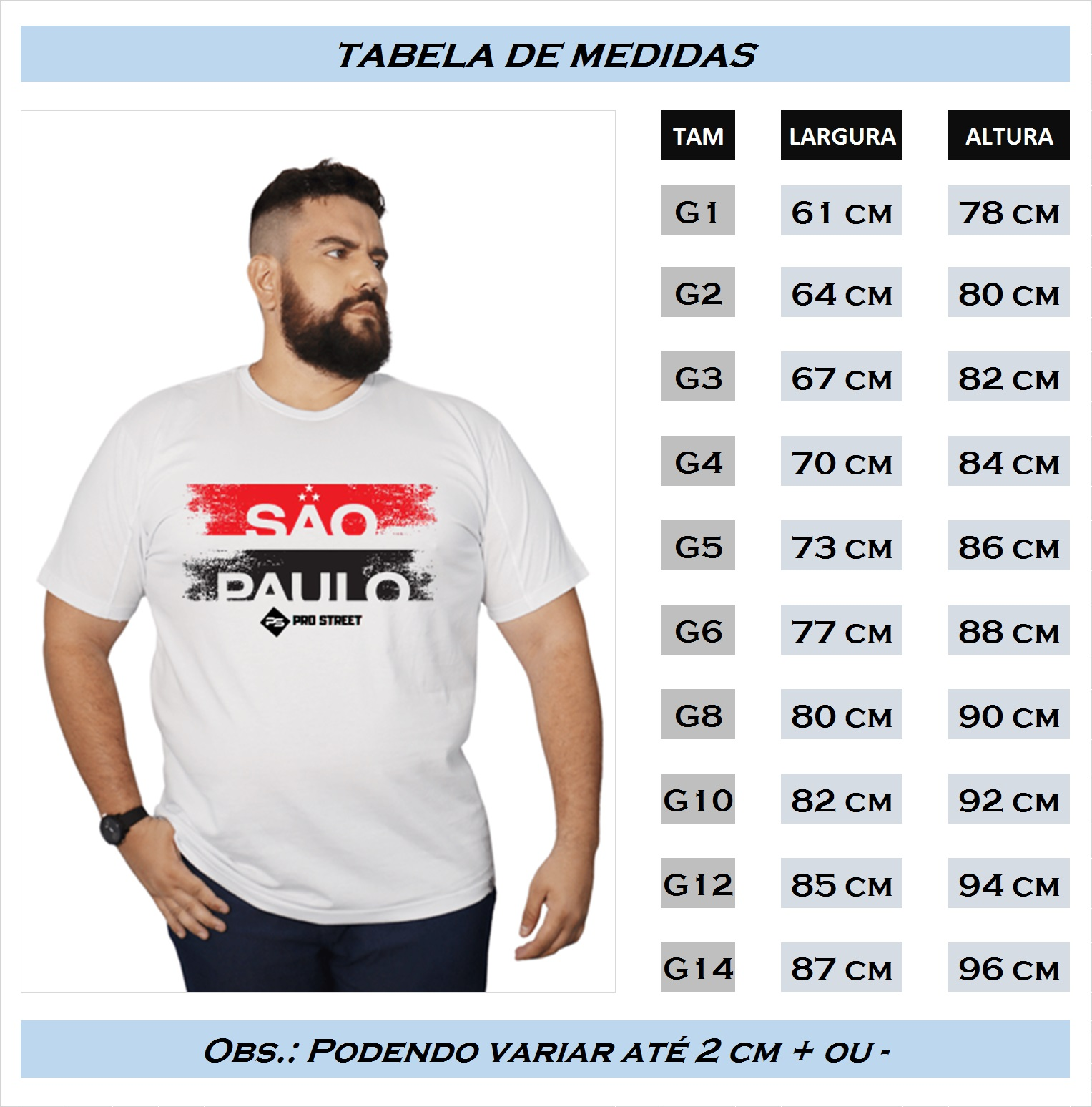 Camiseta Plus Size São Paulo - Times SP