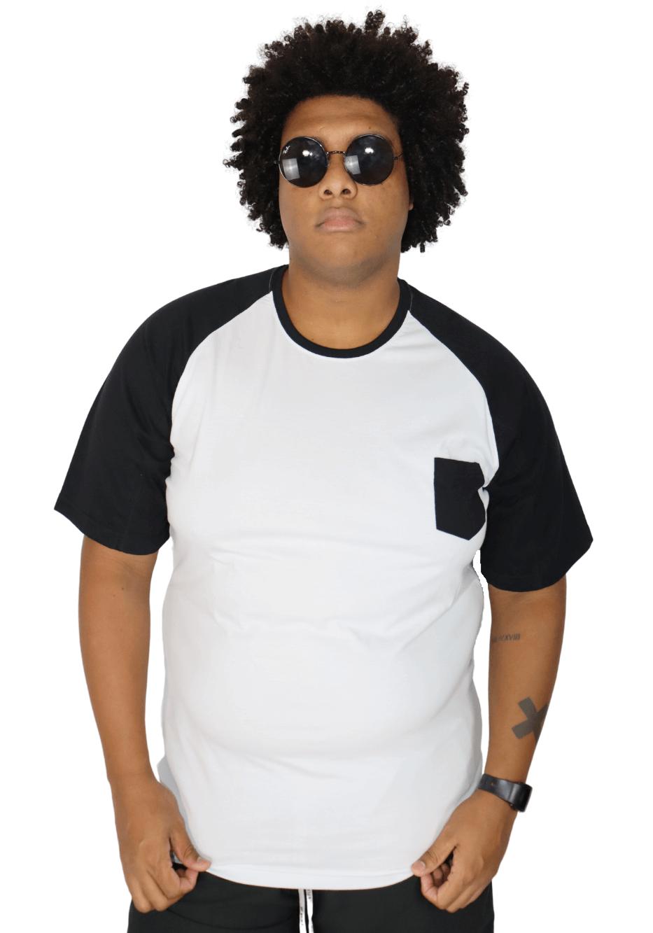Camiseta Raglan Básica Plus Size